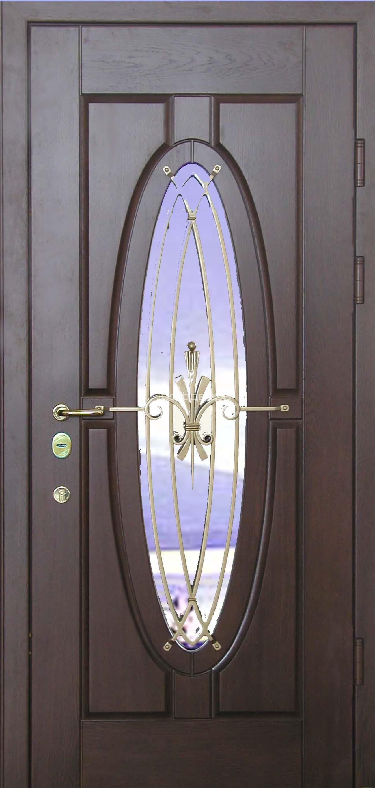 Входные металлические двери со стеклом