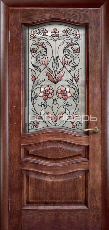 Входные двери с витражами