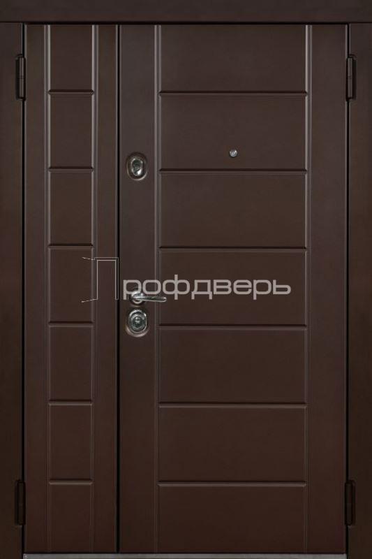 Входные двухстворчатые двери