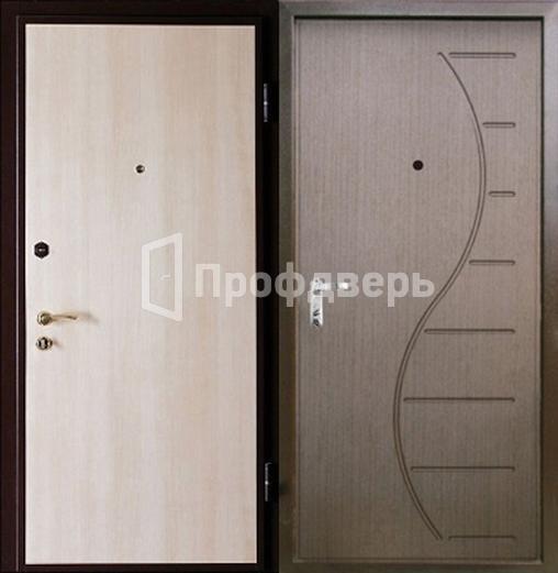 Входная дверь с отделкой ламинат