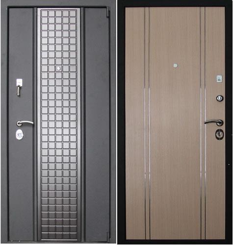 Железная трехконтурная дверь