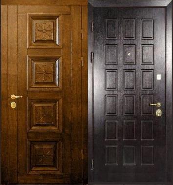 Входная дверь с филенкой
